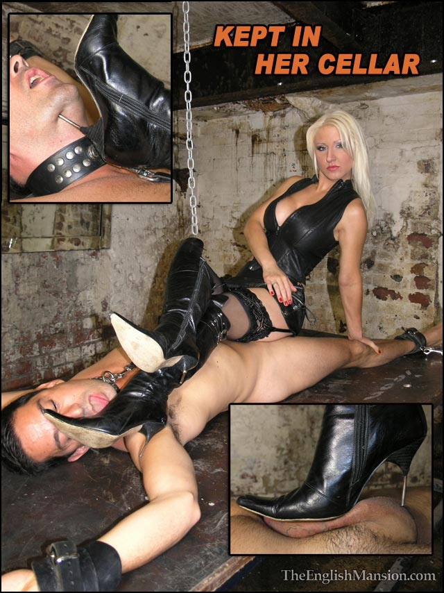boot-trample-slave-kept-in-cellar-extreme-heels