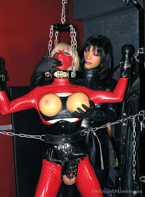 latex sissy bondage domina