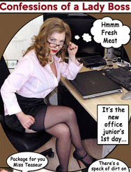 Confessions of a Lady Boss - Femdom Comic Strip