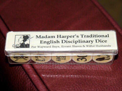 Madam Harper's Traditional English Disciplinary Dice