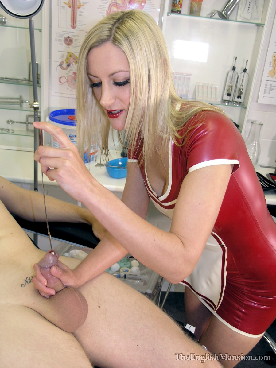 Blonde Milf gives CBT