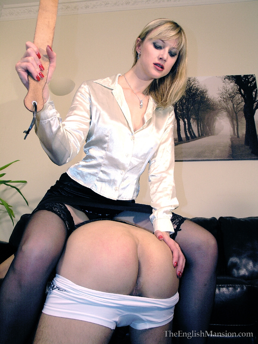 Blonde milf gets a spanking