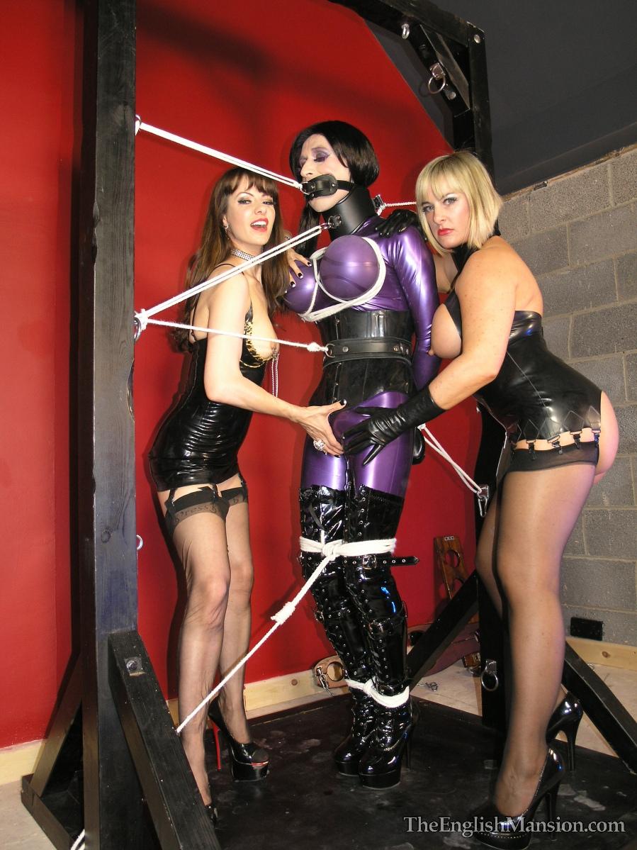 Transvestite rubber mistress agree