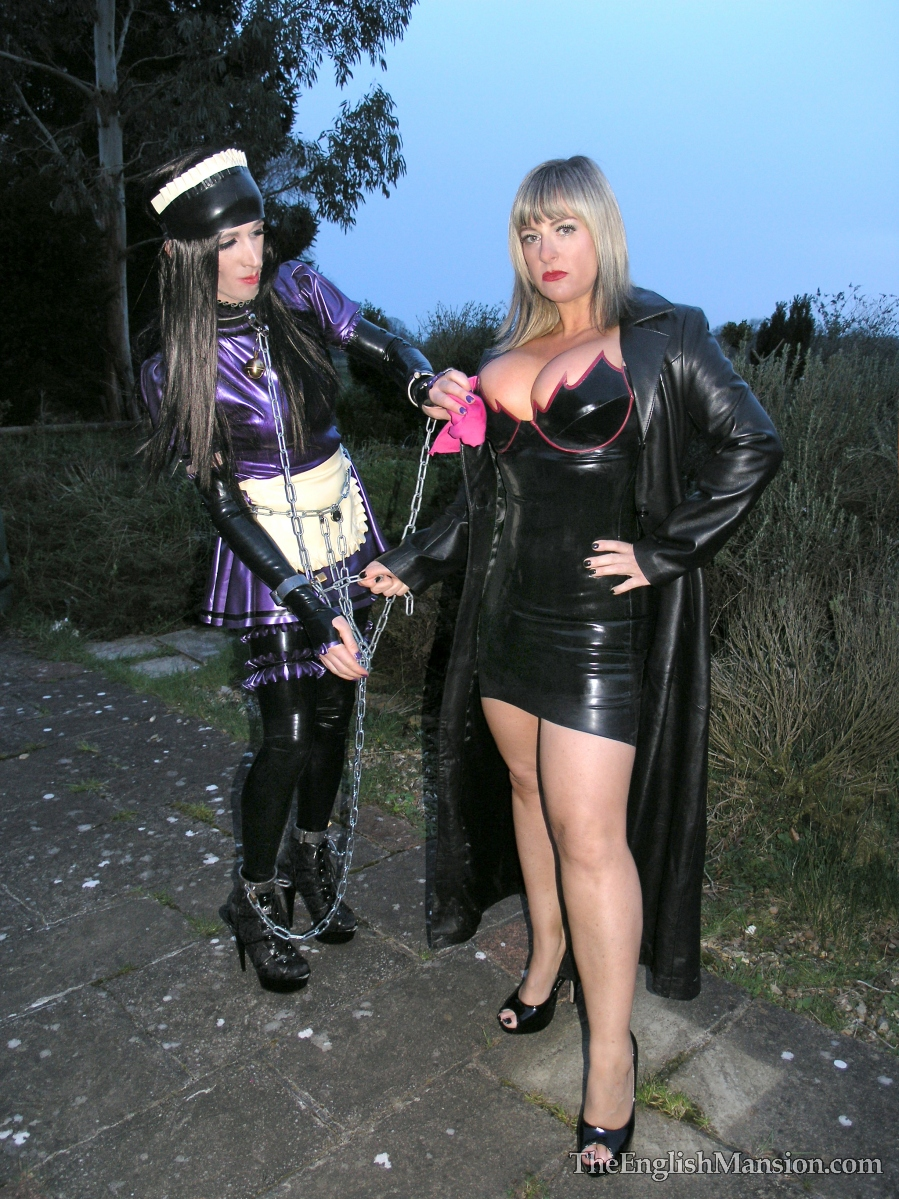 Young mansion mistress trains depted boy into a slave