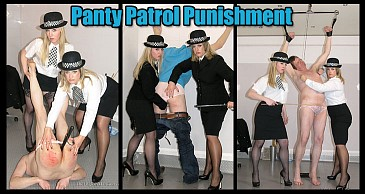 Panty Patrol Punishment:Featuring Lady Nina Birch & Mistress Sidonia